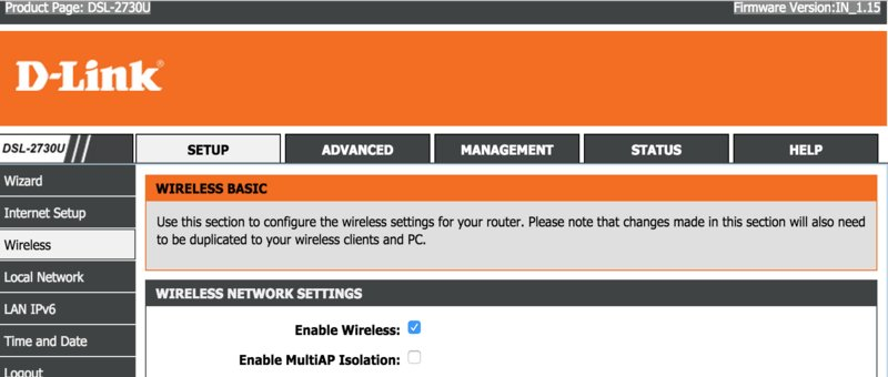 unable to connect to wireless network d-link